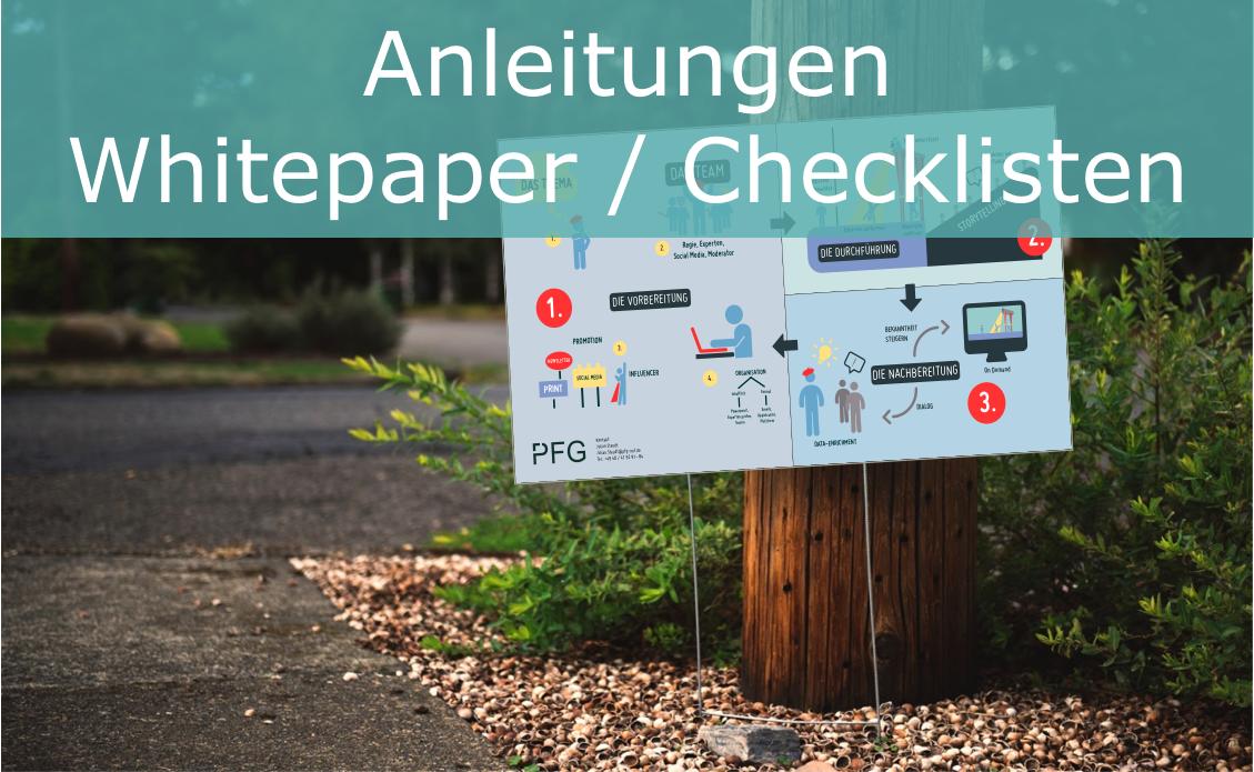 Anleitungen Whitepaper / Checkliste